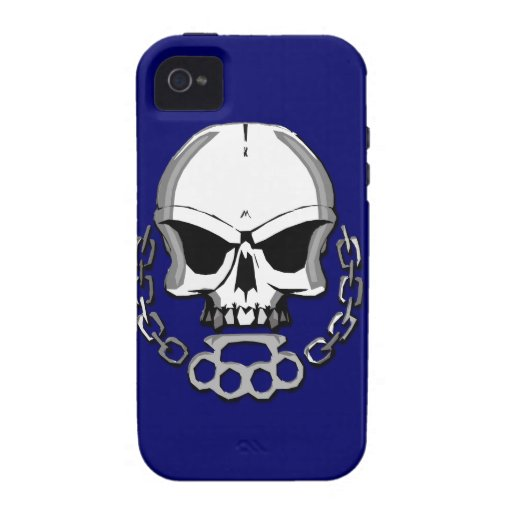 Brass knuckles skull vibe iPhone 4 covers