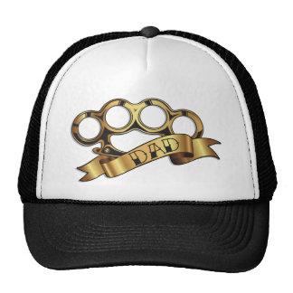 Brass Knuckles Tattoo DAD Banner Hat