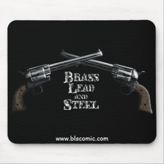 Brass Lead & Steel Mouse Pad