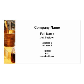 Brass Mortar and Pestle Business Card Templates