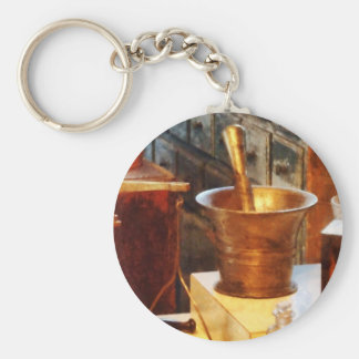 Brass Mortar And Pestle Keychains
