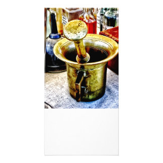 Brass Mortar and Pestle With Handles Card