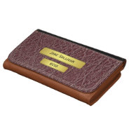 Brass Name Plate Effect Executive's Wallet Purse at Zazzle