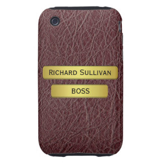 Brass Name Plate On An Executive s iPhone 3G Tough Tough iPhone 3 Case