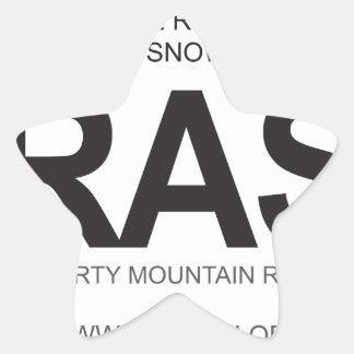 BRASS Oval Logo Star Sticker