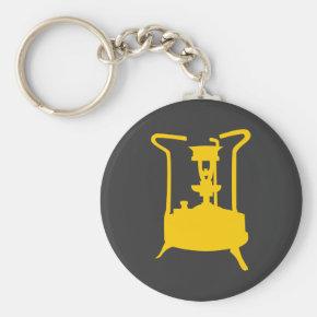 Brass paraffin / kerosene pressure stove keychain