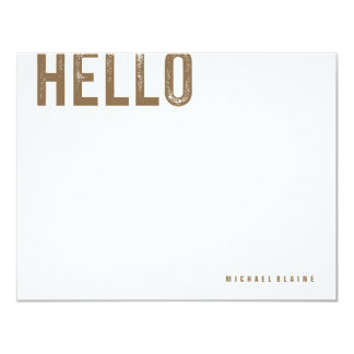 Brass Personal Stationery Card