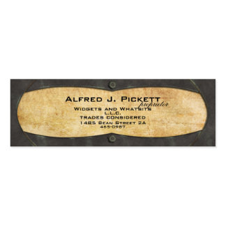 Brass Plate Frame Double-Sided Mini Business Cards (Pack Of 20)