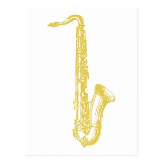 Brass Sax Postcard