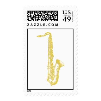 Brass Sax Stamp