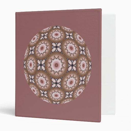 Brass Shields Kaleidoscope Mandala Binders