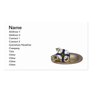 Brass Sink Floatation Device Business Card