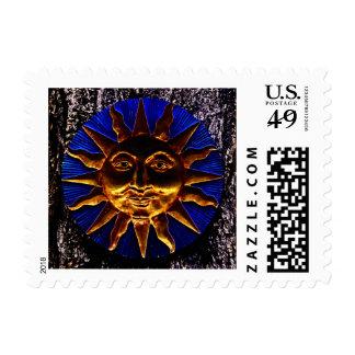 Brass Sun Plaque Postage Stamp