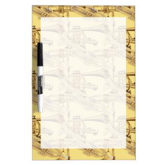 Brass Trumpet Pattern Dry-Erase Whiteboard
