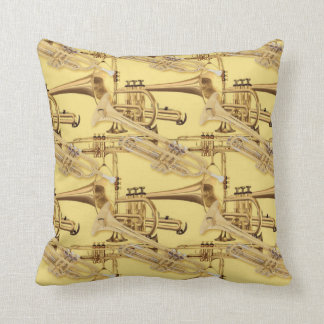 Brass Trumpet Pattern Pillow