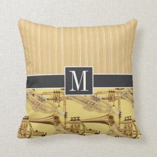 Brass Trumpet; trumpets Throw Pillow