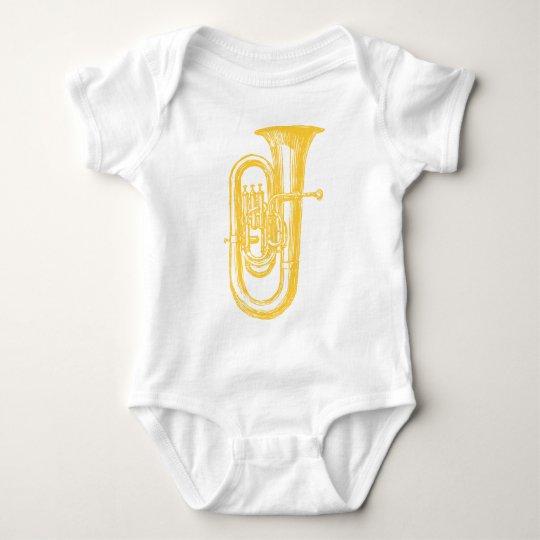 """""""Brass"""" Tuba Baby Bodysuit"""