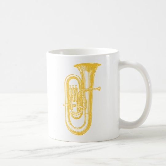 """Brass"" Tuba Coffee Mug"