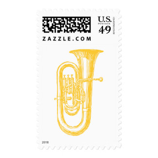 """Brass"" Tuba Postage Stamps"