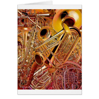 Brass Wall Greeting Cards