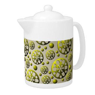 Brass Wheels Teapot