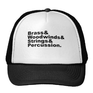 Brass & Woodwinds & Strings & Percussion Orchestra Trucker Hat