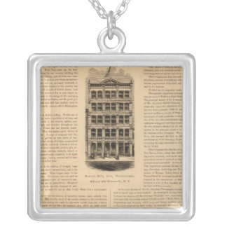 Brass Works of the Scovill Manufacturing Company Square Pendant Necklace