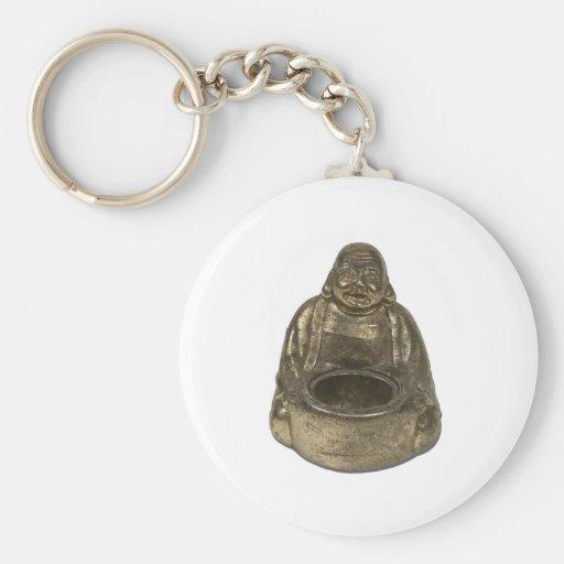 BrassBuddha112311 Basic Round Button Keychain