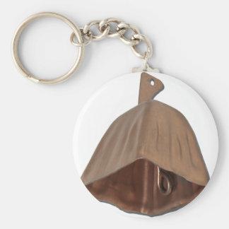BrassCowBell112010 Basic Round Button Keychain
