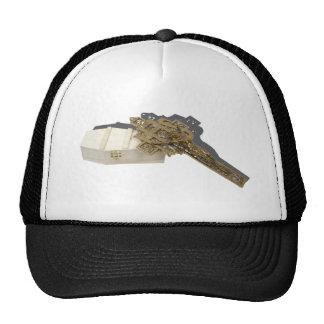 BrassCrucifixWoodenCoffin042112.png Trucker Hat