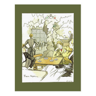 Brasserie à Femmes~Women in Brasserie~Pierre Vidal Postcard