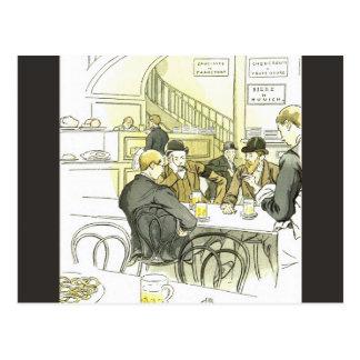 Brasserie Allemande ~German Brewery ~ Pierre Vidal Postcard