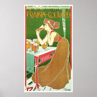 Brasserie Fraikin Courard 1900 ~ Vintage Ad Poster