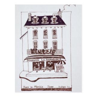 Brasserie La Renaissance   Place du Marche, Dinan Postcard