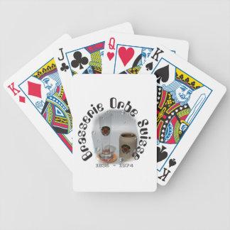 Brasserie Orbe of packs of cards