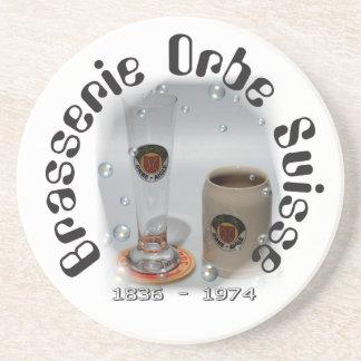 Brasserie Orbe Suisse beer cover Drink Coaster