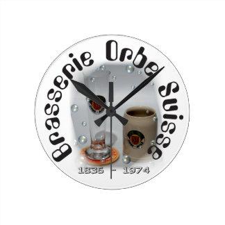 Brasserie Orbe Suisse/brewery of Orbe Switzerland Round Clock