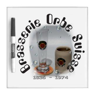 Brasserie Orbe Suisse note board