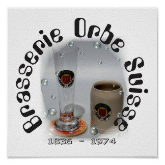 Brasserie Orbe Suisse poster