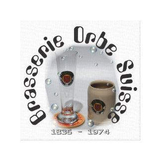 Brasserie Orbe Suisse presión en lienzo de cuña Impresiones En Lona