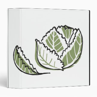 Brassica Oleracea 3 Ring Binder