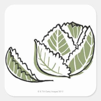 Brassica Oleracea Square Stickers