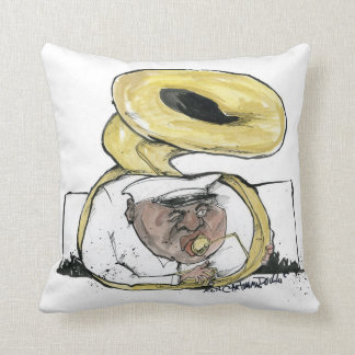 brassman from new orleans throw pillow