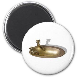 BrassSink092110 2 Inch Round Magnet