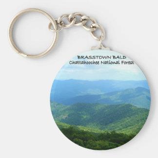 Brasstown calvo - bosque del Estado de Chattahooch Llavero Redondo Tipo Pin