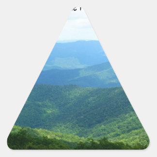Brasstown calvo - bosque del Estado de Pegatina Triangular