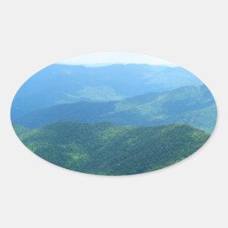 Brasstown calvo - bosque del Estado de Pegatina Ovalada