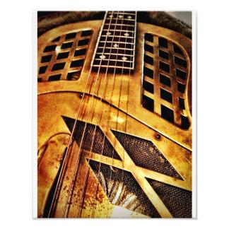 Brassy Blues Guitar Photo Print