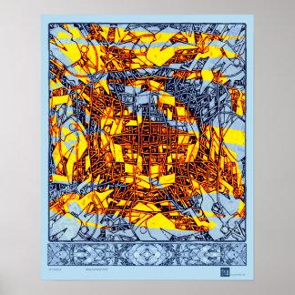 Brassy November Wind Poster