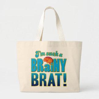 Brat Brainy Brain Canvas Bags